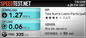 Speed Test Oi Velox 3G
